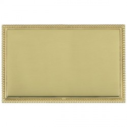 Hamilton Linea-Georgian CFX Polished Brass/Polished Brass Double Blank Plate