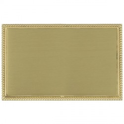 Hamilton Linea-Georgian CFX Polished Brass/Satin Brass Double Blank Plate