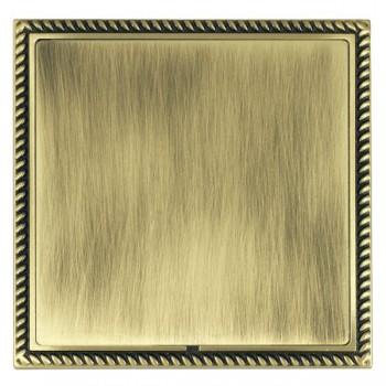 Hamilton Linea-Georgian CFX Antique Brass/Antique Brass Single Blank Plate