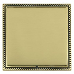 Hamilton Linea-Georgian CFX Antique Brass/Polished Brass Single Blank Plate