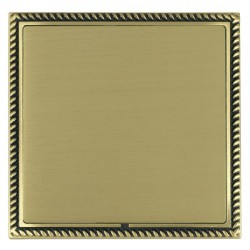 Hamilton Linea-Georgian CFX Antique Brass/Satin Brass Single Blank Plate