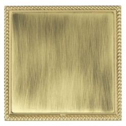 Hamilton Linea-Georgian CFX Polished Brass/Antique Brass Single Blank Plate