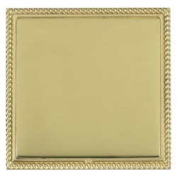 Hamilton Linea-Georgian CFX Polished Brass/Polished Brass Single Blank Plate