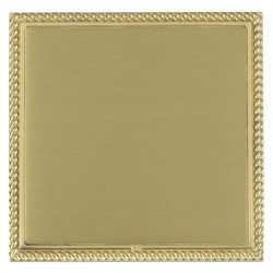 Hamilton Linea-Georgian CFX Polished Brass/Satin Brass Single Blank Plate