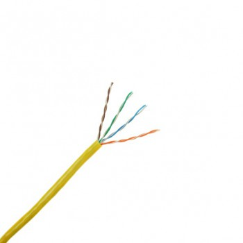 305 Metre Box of Yellow Cat 5E Cable