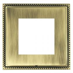 Hamilton Linea-Georgian CFX Antique Brass/Antique Brass Single Plate c/w 2 EuroFix Apertures + Grid