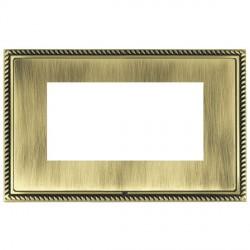 Hamilton Linea-Georgian CFX Antique Brass/Antique Brass Double Plate c/w 4 EuroFix Apertures + Grid