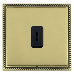 Hamilton Linea-Georgian CFX Antique Brass/Polished Brass 1 Gang 2 Way Key Switch with Black Insert