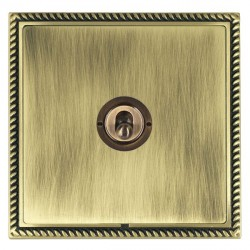 Hamilton Linea-Georgian CFX Antique Brass/Antique Brass 1 Gang 2 Way Dolly with Antique Brass Insert