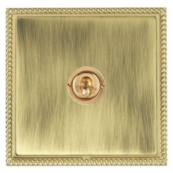Hamilton Linea-Georgian CFX Polished Brass/Antique Brass 1 Gang 2 Way Dolly with Polished Brass Insert
