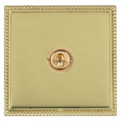 Hamilton Linea-Georgian CFX Polished Brass/Polished Brass 1 Gang 2 Way Dolly with Polished Brass Insert