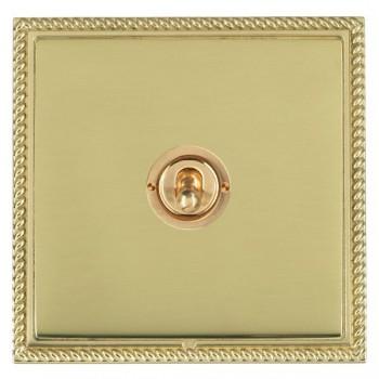 Hamilton Linea-Georgian CFX Polished Brass/Polished Brass 1 Gang 2 Way Dolly with Polished Brass Insert