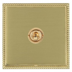 Hamilton Linea-Georgian CFX Polished Brass/Satin Brass 1 Gang 2 Way Dolly with Polished Brass Insert