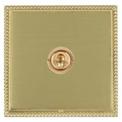 Hamilton Linea-Georgian CFX Polished Brass/Satin Brass 1 Gang Intermediate Dolly with Polished Brass Insert