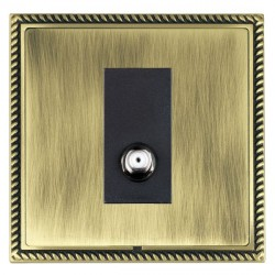 Hamilton Linea-Georgian CFX Antique Brass/Antique Brass 1 Gang Isolated Satellite with Black Insert