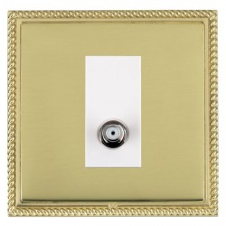 Hamilton Linea-Georgian CFX Polished Brass/Polished Brass 1 Gang Non Isolated Satellite with White Insert