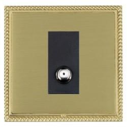 Hamilton Linea-Georgian CFX Polished Brass/Satin Brass 1 Gang Non Isolated Satellite with Black Insert