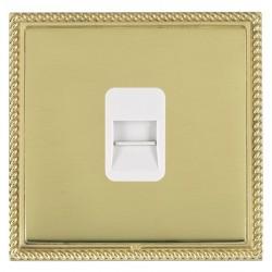 Hamilton Linea-Georgian CFX Polished Brass/Polished Brass 1 Gang Telephone Master with White Insert