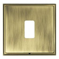 Hamilton Linea-Perlina CFX Antique Brass/Antique Brass 1 Gang Grid Fix Aperture Plate with Grid