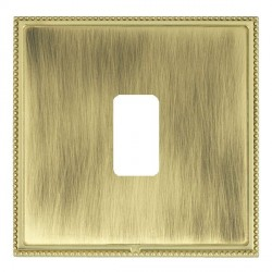 Hamilton Linea-Perlina CFX Polished Brass/Antique Brass 1 Gang Grid Fix Aperture Plate with Grid