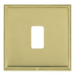 Hamilton Linea-Perlina CFX Polished Brass/Polished Brass 1 Gang Grid Fix Aperture Plate with Grid