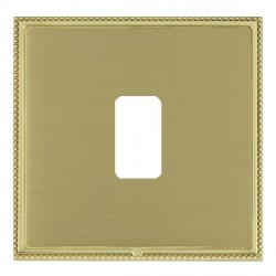 Hamilton Linea-Perlina CFX Polished Brass/Satin Brass 1 Gang Grid Fix Aperture Plate with Grid