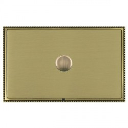 Hamilton Linea-Perlina CFX Antique Brass/Satin Brass Push On/Off Dimmer 1 Gang 2 way with Antique Brass I...
