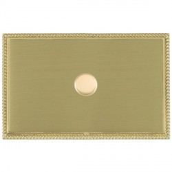 Hamilton Linea-Perlina CFX Polished Brass/Satin Brass Push On/Off Dimmer 1 Gang 2 way with Polished Brass...
