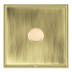 Hamilton Linea-Perlina CFX Polished Brass/Antique Brass Push On/Off Dimmer 1 Gang 2 way Inductive with Po...
