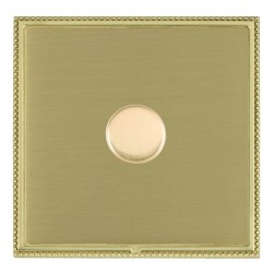 Hamilton Linea-Perlina CFX Polished Brass/Satin Brass Push On/Off Dimmer 1 Gang 2 way Inductive with Poli...
