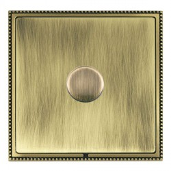 Hamilton Linea-Perlina CFX Antique Brass/Antique Brass Push On/Off Dimmer 1 Gang 2 way Inductive with Ant...