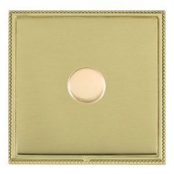 Hamilton Linea-Perlina CFX Polished Brass/Polished Brass Push On/Off Dimmer 1 Gang 2 way with Polished Br...