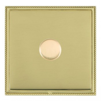 Hamilton Linea-Perlina CFX Polished Brass/Polished Brass Push On/Off Dimmer 1 Gang 2 way with Polished Brass Insert