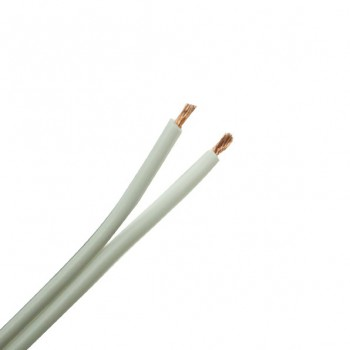 10 Metre Length of 79 Strand White Speaker Cable