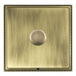 Hamilton Linea-Perlina CFX Antique Brass/Antique Brass Push On/Off Dimmer 1 Gang Multi-way Trailing Edge ...