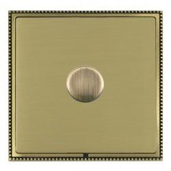 Hamilton Linea-Perlina CFX Antique Brass/Satin Brass Push On/Off Dimmer 1 Gang Multi-way Trailing Edge wi...