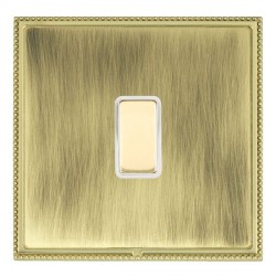 Hamilton Linea-Perlina CFX Polished Brass/Antique Brass 1 Gang Multi way Touch Master Trailing Edge with White Insert