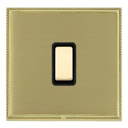 Hamilton Linea-Perlina CFX Polished Brass/Satin Brass 1 Gang Multi way Touch Master Trailing Edge with Bl...