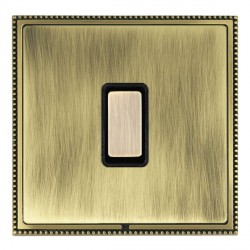 Hamilton Linea-Perlina CFX Antique Brass/Antique Brass 1 Gang Multi way Touch Slave Trailing Edge with Bl...