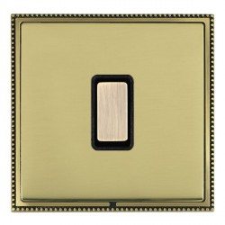 Hamilton Linea-Perlina CFX Antique Brass/Polished Brass 1 Gang Multi way Touch Slave Trailing Edge with B...
