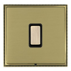 Hamilton Linea-Perlina CFX Antique Brass/Satin Brass 1 Gang Multi way Touch Slave Trailing Edge with Blac...