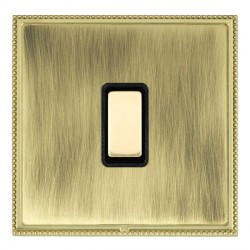 Hamilton Linea-Perlina CFX Polished Brass/Antique Brass 1 Gang Multi way Touch Slave Trailing Edge with B...