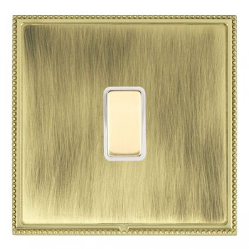 Hamilton Linea-Perlina CFX Polished Brass/Antique Brass 1 Gang Multi way Touch Slave Trailing Edge with White Insert