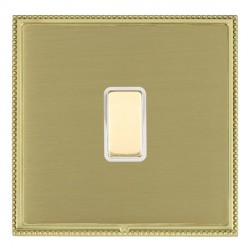 Hamilton Linea-Perlina CFX Polished Brass/Satin Brass 1 Gang Multi way Touch Slave Trailing Edge with Whi...
