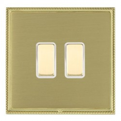 Hamilton Linea-Perlina CFX Polished Brass/Satin Brass 2 Gang Multi way Touch Master Trailing Edge with Wh...