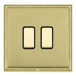 Hamilton Linea-Perlina CFX Polished Brass/Polished Brass 2 Gang Multi way Touch Slave Trailing Edge with ...
