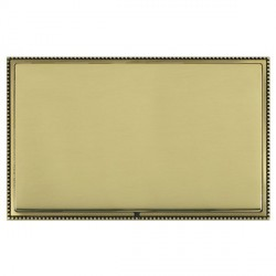 Hamilton Linea-Perlina CFX Antique Brass/Polished Brass Double Blank Plate