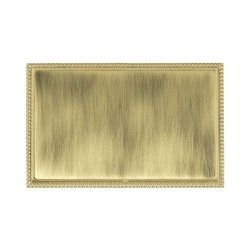 Hamilton Linea-Perlina CFX Polished Brass/Antique Brass Double Blank Plate