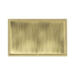 Hamilton Linea-Perlina CFX Polished Brass/Antique Brass Double Blank Plate