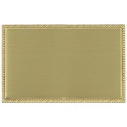 Hamilton Linea-Perlina CFX Polished Brass/Satin Brass Double Blank Plate